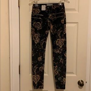 Free People Crushed Velvet Jeans